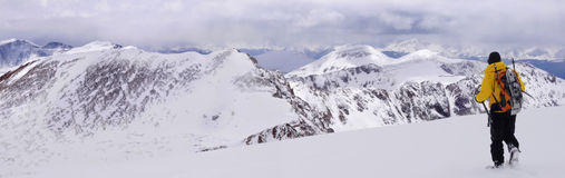 Panorama dos fourteeners de Colorado imagem de stock royalty free