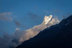 Panorama dos Himalayas na mola de Nepal Fotos de Stock