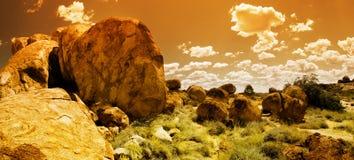 Panorama dos mármores dos diabos Fotos de Stock