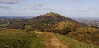 Panorama dos montes de Malvern Fotos de Stock Royalty Free