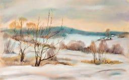 Paisagem do inverno. ilustração stock