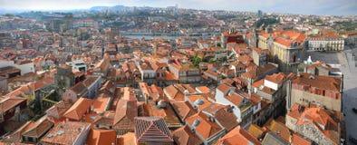 Panorama dos telhados da cidade de Porto Foto de Stock Royalty Free