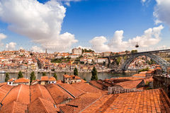 Panorama of the Douro river and Porto Skyline. Porto, Portugal Royalty Free Stock Image