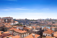 Panorama of the Douro river and Porto Skyline. Porto, Portugal Royalty Free Stock Photography