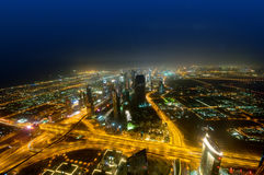 Panorama of down town Duba. I city - UAE Royalty Free Stock Photo