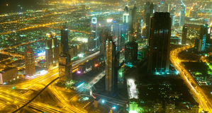 Panorama of down town Dubai  - UAE Royalty Free Stock Photos