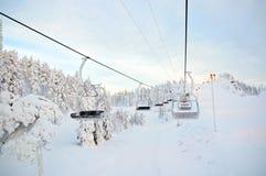 Panorama downhill. Ruka, Finland Stock Image