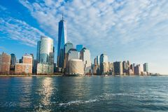 Panorama. Of the downtown Manhattan Royalty Free Stock Photos