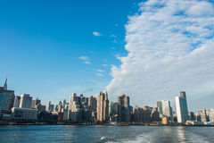 Panorama of downtown Manhattan in New York Royalty Free Stock Image