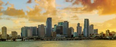 Panorama of Downtown Miami, Florida Stock Photo