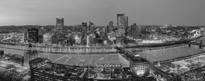 Panorama of downtown Pittsburgh Stock Photos