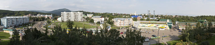 Panorama downtown resort Belokuriha. Altai. Stock Photography