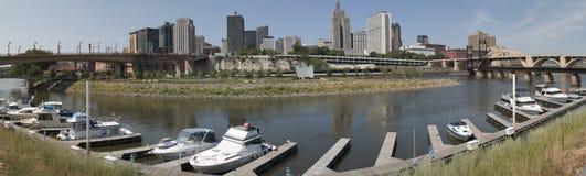 Panorama of downtown Saint Paul, Minnesota Stock Photography