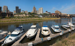 Panorama of downtown Saint Paul, Minnesota Royalty Free Stock Images