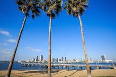 Panorama of Downtown of San Diego, California Royalty Free Stock Photos