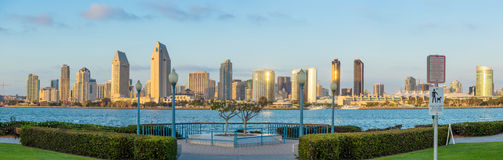Panorama of Downtown of San Diego, California Stock Photos