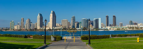 Panorama of Downtown of San Diego, California Royalty Free Stock Image
