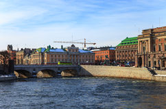 Panorama downtown in Stockholm, Sweden. Royalty Free Stock Photo