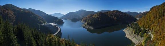 Panorama of Dragan lake, Apuseni mountains Stock Photography