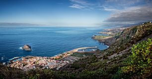 Panorama of dramatic Northern coast of Tenerife stock photo