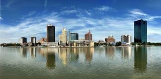 Panorama dramatique de l'horizon de Toledo Image stock