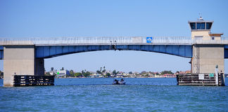 Panorama of a Draw bridge at tampa bay Royalty Free Stock Photography