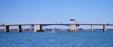 Panorama of a Draw bridge at tampa bay Royalty Free Stock Photos