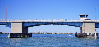 Panorama of a Draw bridge at tampa bay Stock Photography