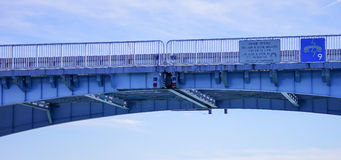 Panorama of a Draw bridge at tampa bay Stock Photo