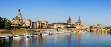 Panorama Dresden Historic Center Stock Images