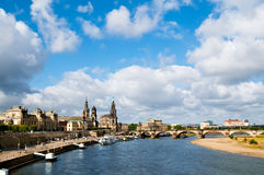Panorama of Dresden Old Town Royalty Free Stock Photo