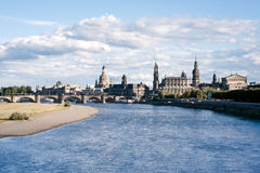 Panorama of Dresden Old Town Royalty Free Stock Photography