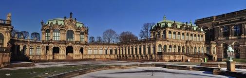 Panorama Dresden - Zwinger Royalty-vrije Stock Foto's