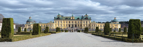 Panorama of Drottningholm Palace, Sweden Royalty Free Stock Images