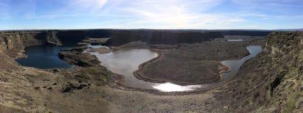 Panorama of Dry Falls, Washington State Royalty Free Stock Photo