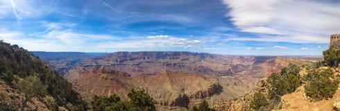 Panorama du canyon grand aux Etats-Unis photographie stock