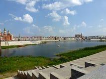 Panorama du centre d'Iochkar-Ola Photo stock