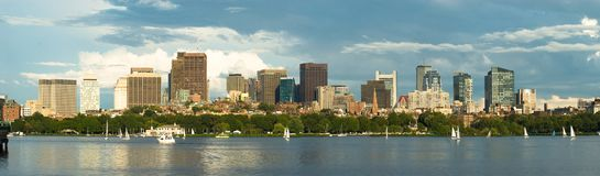 Panorama du centre de Boston Image libre de droits