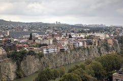 Panorama du centre de la ville de la forteresse Narikala photo libre de droits