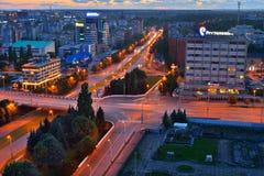 Panorama du centre de la ville Kaliningrad Photographie stock libre de droits