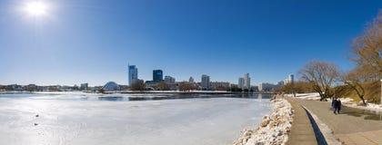 Panorama du centre de Minsk Photographie stock libre de droits