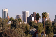 Panorama du centre de Phoenix Photographie stock