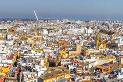 Panorama du centre historique de Séville Image stock