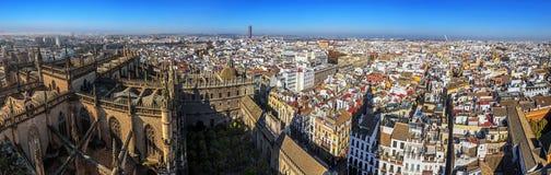 Panorama du centre historique de Séville Photos libres de droits