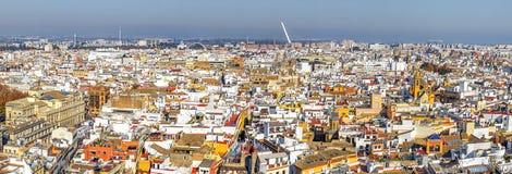 Panorama du centre historique de Séville Images libres de droits