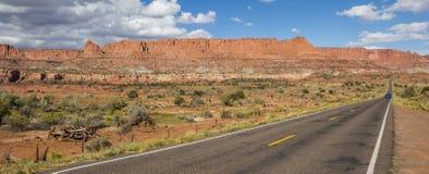 Panorama du chemin détourné scénique 12 près du récif de capitol Images stock