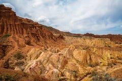 Panorama du conte de fées ou du skazka de canyon image stock