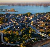 Panorama du DA Mei Town images libres de droits