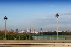 Panorama du fleuve Vistule et de Varsovie Image stock