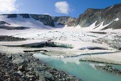 Panorama du glacier d'IGAN Ural polaire, Russie photos libres de droits